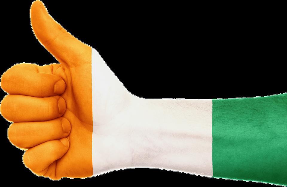 ivory coast flag hand africa country patriotism - Ivory Coast PNG