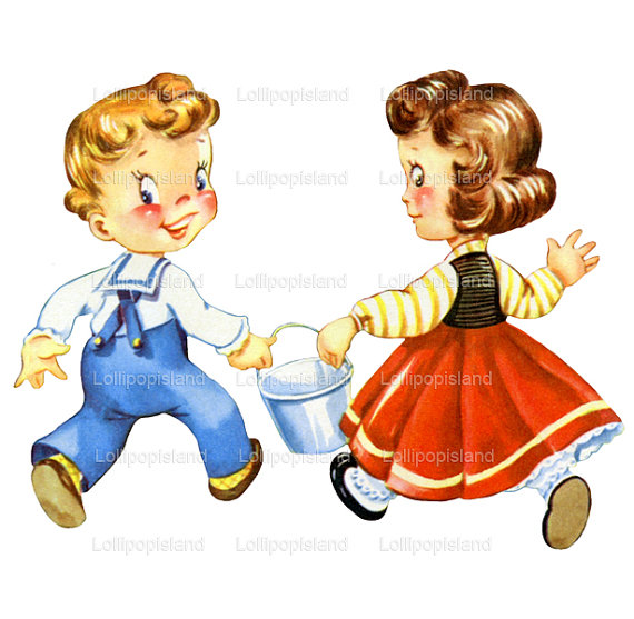 instant download jack and jill digital image by lollipopisland, $3 clipart - Jack And Jill PNG