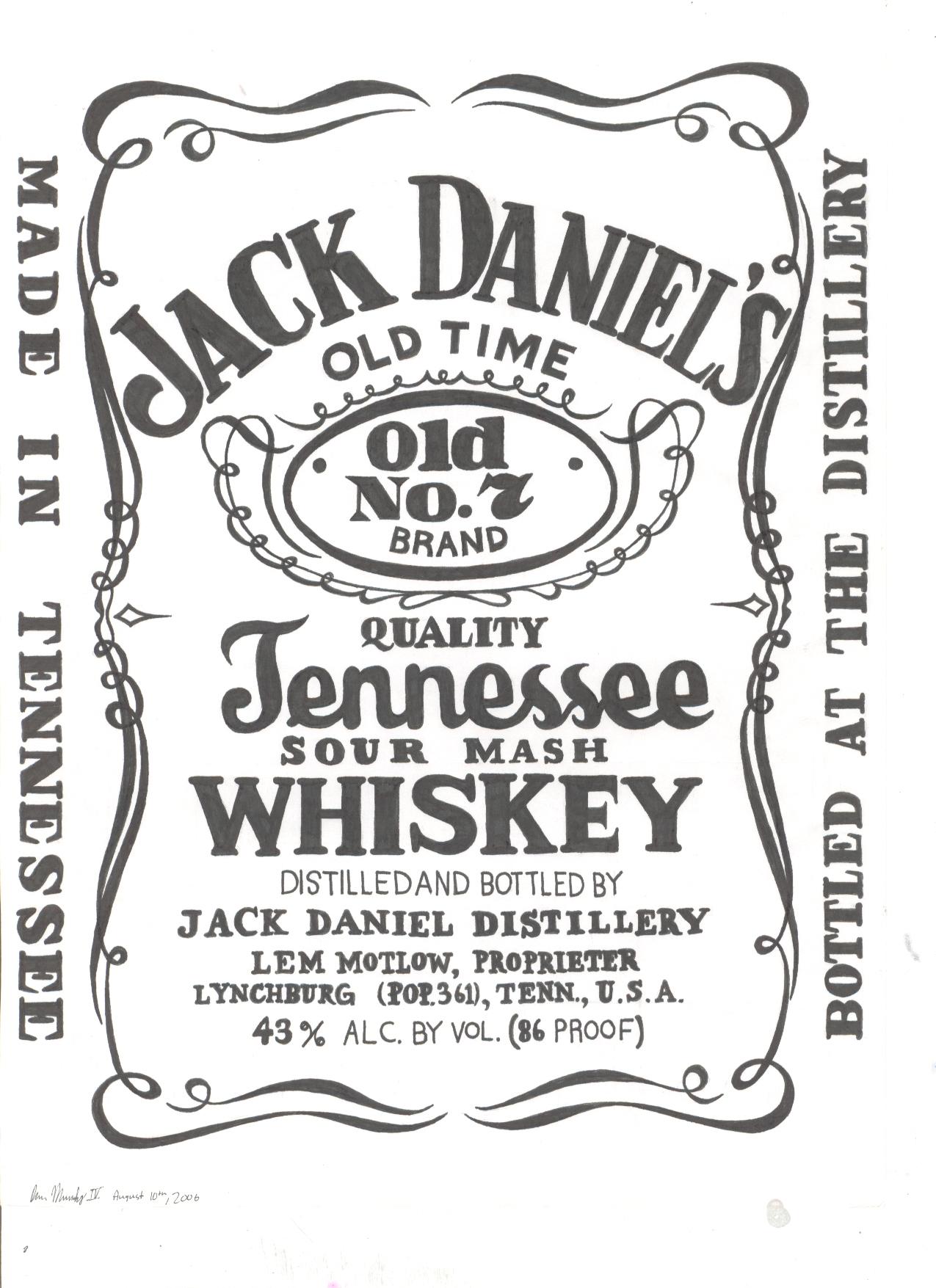 Jack Daniels Vector PNG - 104361