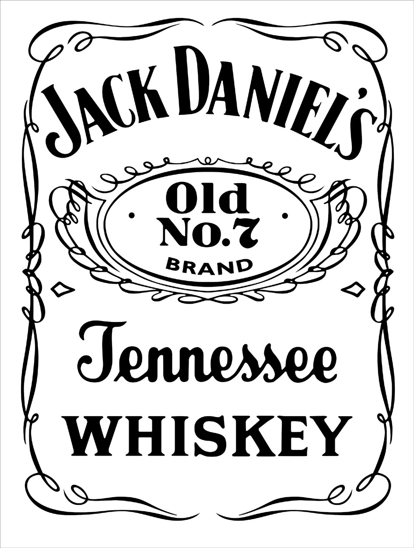 Jack Daniels Vector DXF Top - Jack Daniels Vector PNG