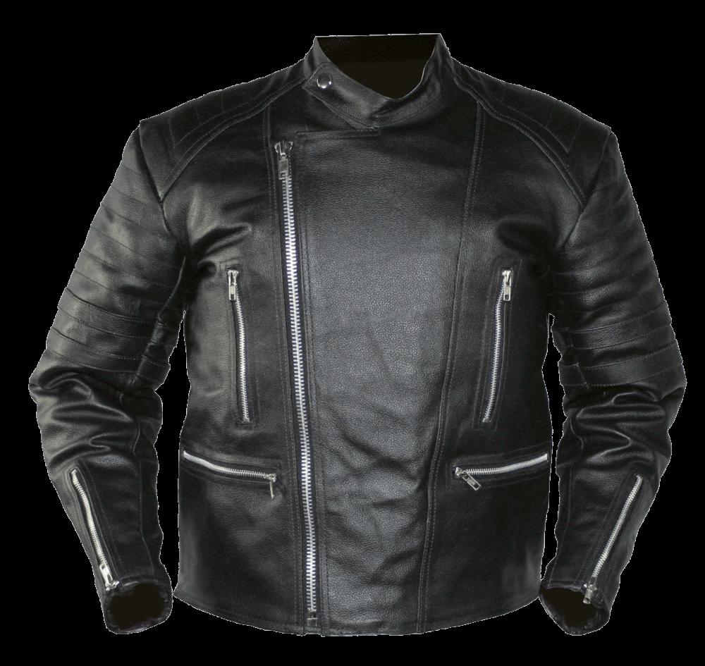 Black Leather Jacket - Jacket PNG