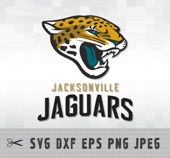 Jacksonville Jaguars Layered SVG Dxf EPS Logo Vector File Silhouette Studio  Cameo Cricut Design Template Stencil Vinyl Decal Tshirt Craft - Jacksonville Jaguars Vector PNG