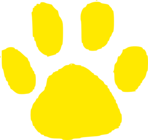 Jaguar Paw Print In Gold Clip Art - Jaguar Paw PNG