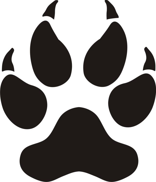 Panther Paw Prints Clip Art | Clipart library - Free Clipart Images - Jaguar Paw PNG