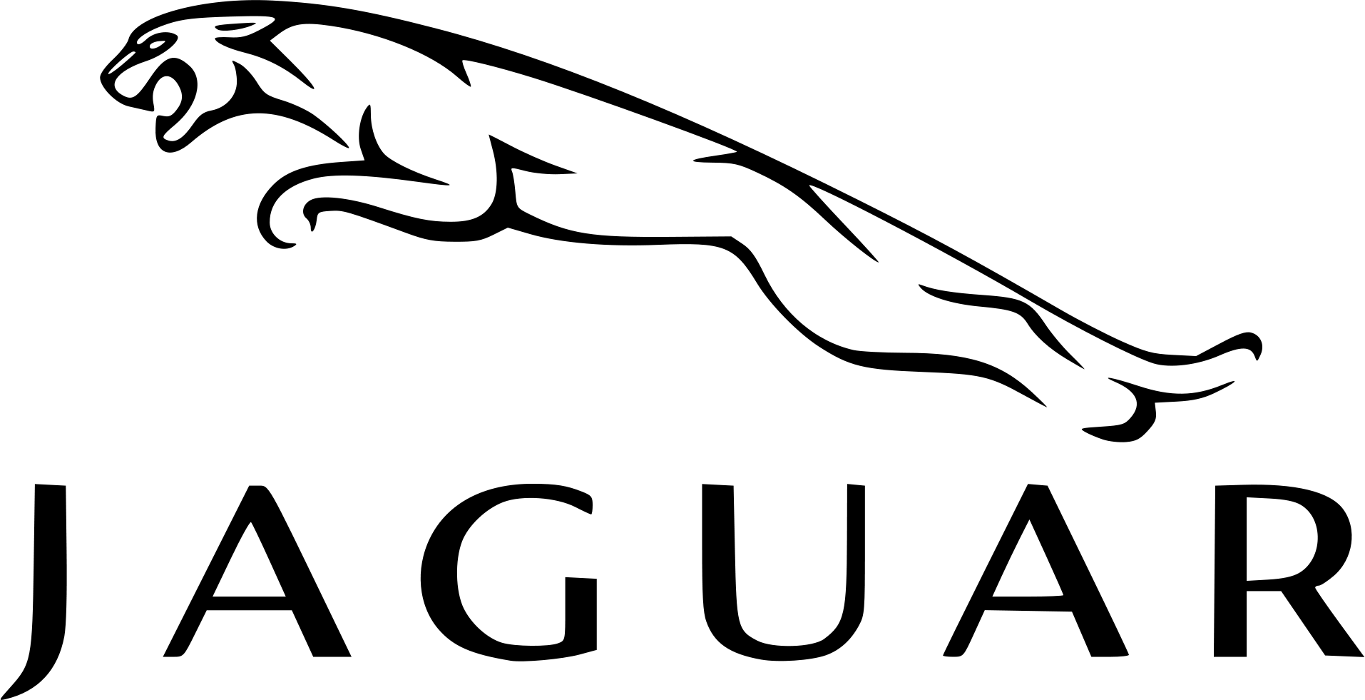 Jaguar logo black and white PNG Clipart - Jaguar PNG Black And White