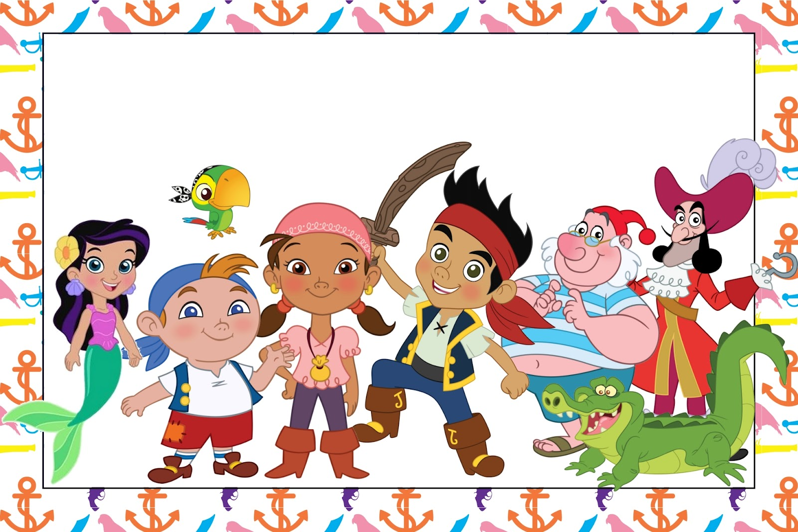 Jake y los piratas de Nunca Jamás: invitaciones para imprimir gratis. - Jake Y Los Piratas PNG