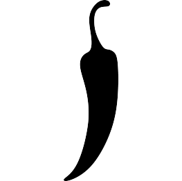 Jalapeno PNG Black And White - 70024