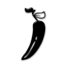 Jalapeno PNG Black And White - 70023