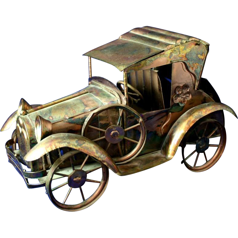 Vintage SANKYO Musical Wind up Jalopy Car- Plays Days of Wine and Roses - Jalopy PNG