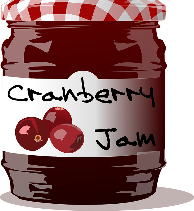 Cranberry, Jam, Jelly, Food, Fruit, Sweet, Homemade - Free PNG - Jam Jar PNG HD