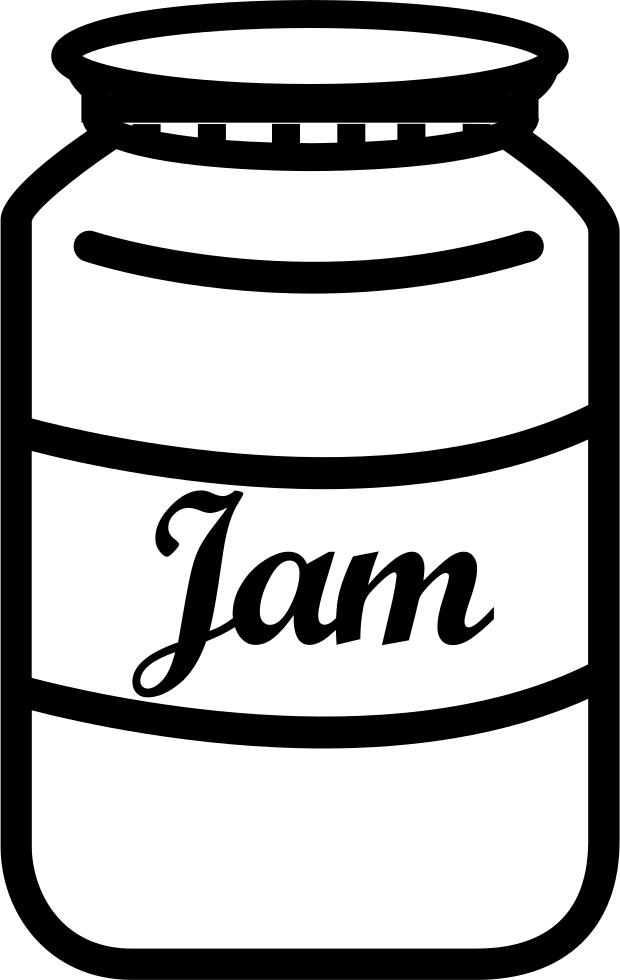 Jam Jar With Label Comments - Jam Jar PNG HD