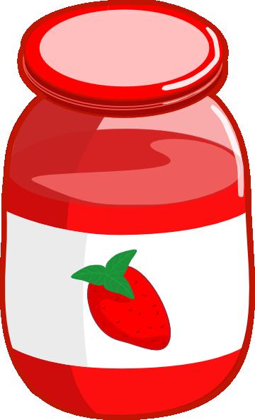 Strawberry Jam Clip Art - Free PNG Jam - Jam Jar PNG HD