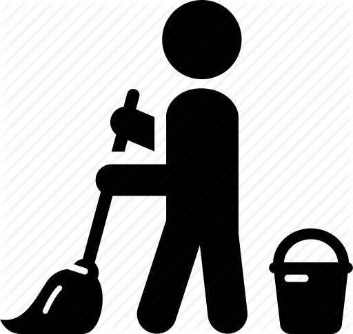 Janitor PNG Black And White - 50643