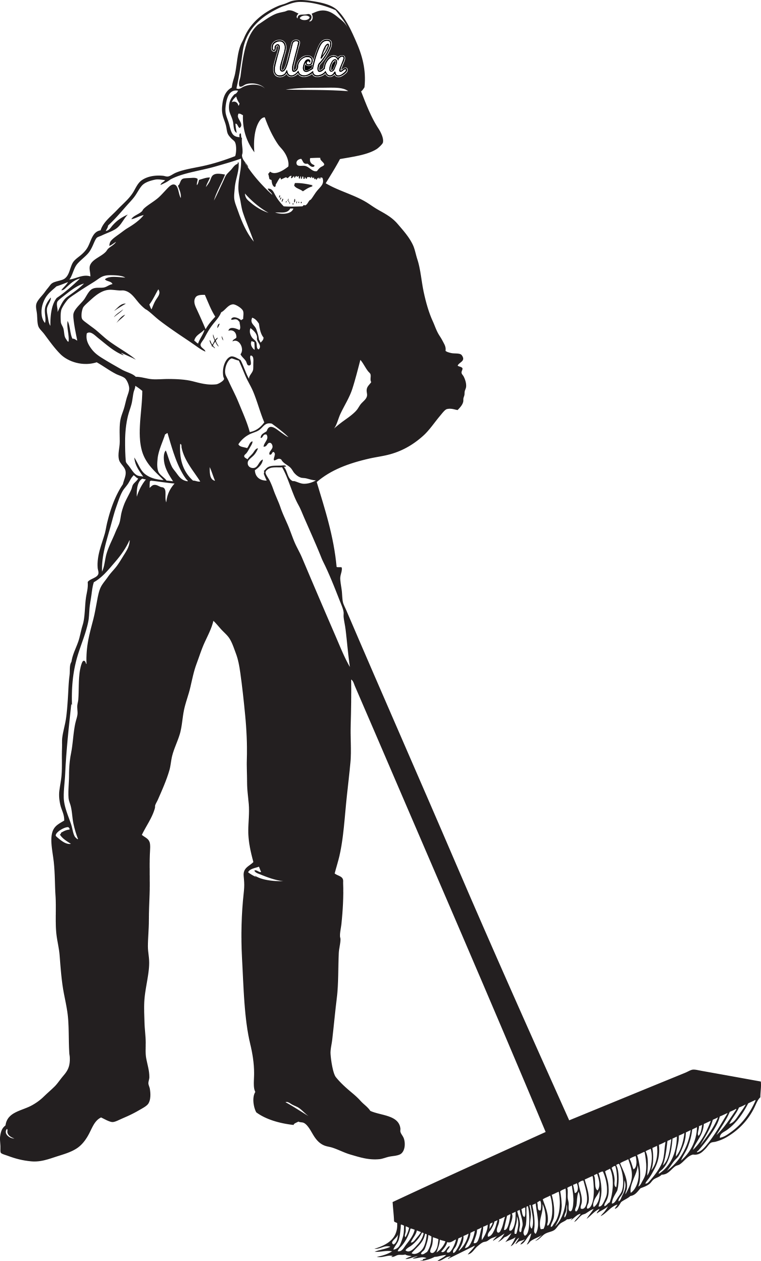 Janitor PNG Black And White - 50642