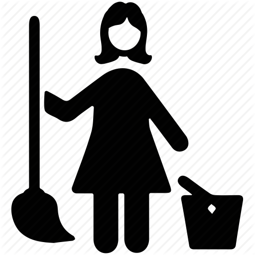 Janitor PNG Black And White - 50644