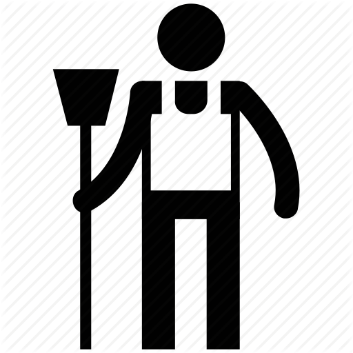 Janitor PNG Black And White - 50645