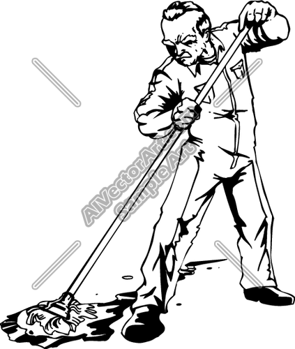 Janitor PNG Black And White - 50634