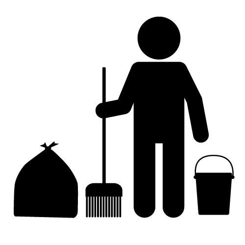 Janitor PNG Black And White - 50638