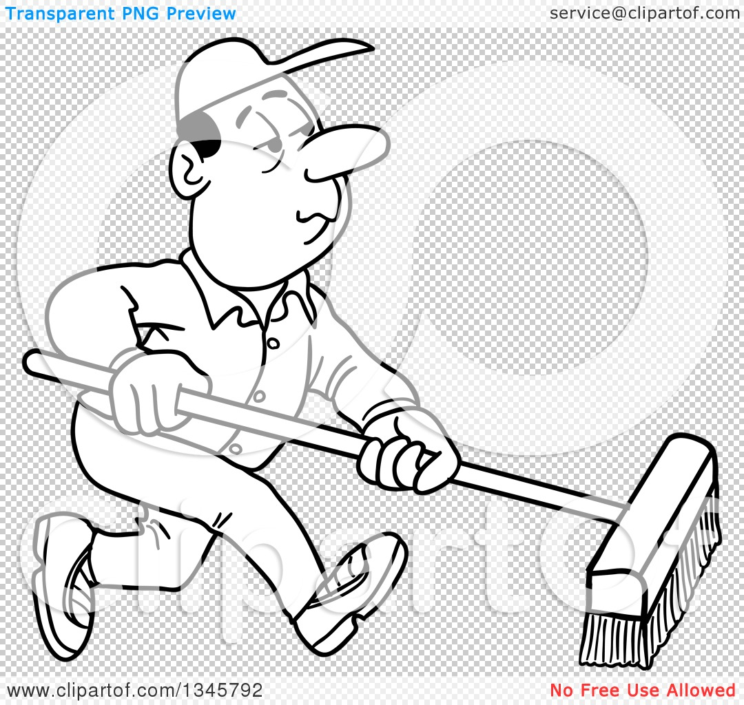Janitor PNG Black And White - 50636