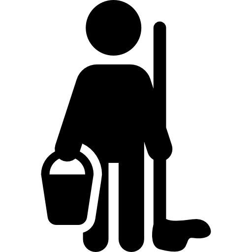 Janitor PNG Black And White - 50648