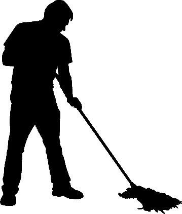 Janitor PNG Black And White - 50640