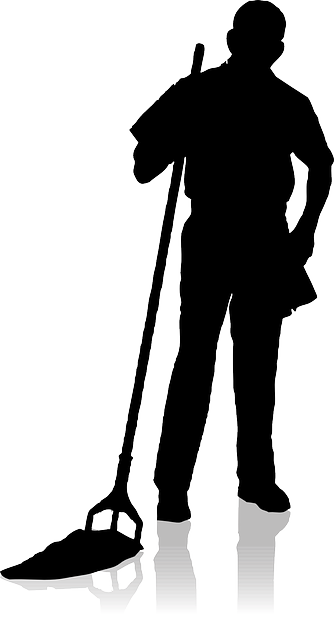 Janitor Png Black And White Transparent Janitor Black And