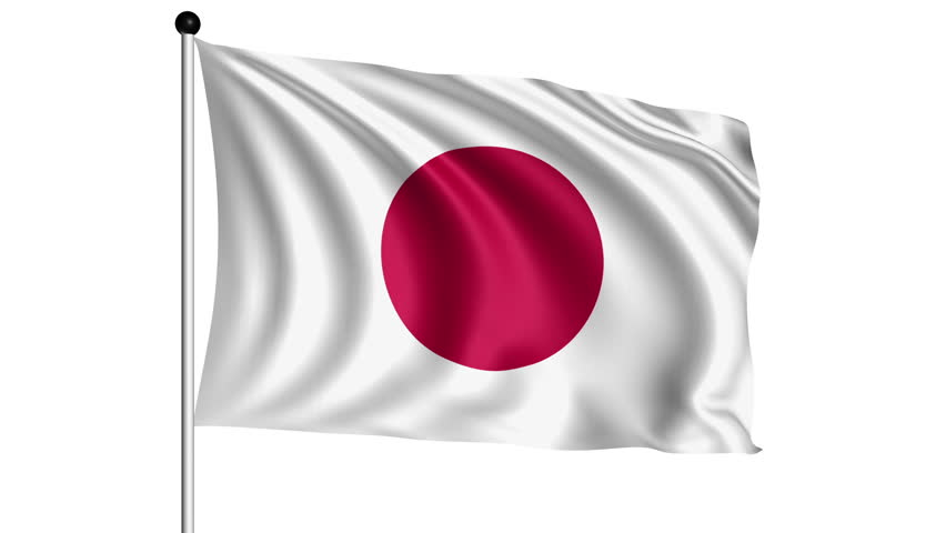 Flag Of Japan With Fabric Structure - Looping; Alpha Channel Included Stock  Footage Video 6773800 | Shutterstock - Japan Flag PNG HD