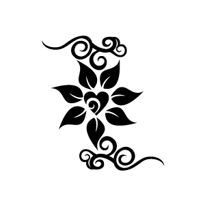 Jasmine PNG Black And White - 49730