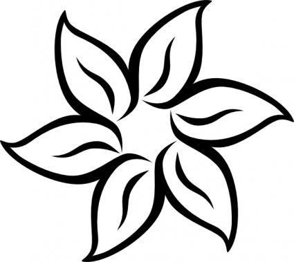Jasmine PNG Black And White - 49733