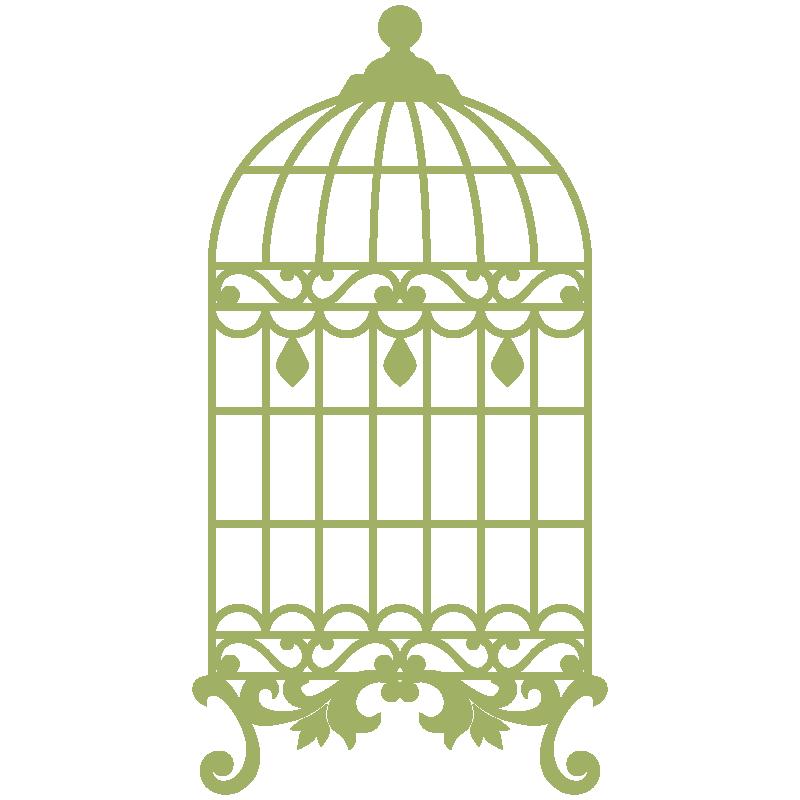 vinilo decorativo jaula - Jaula PNG