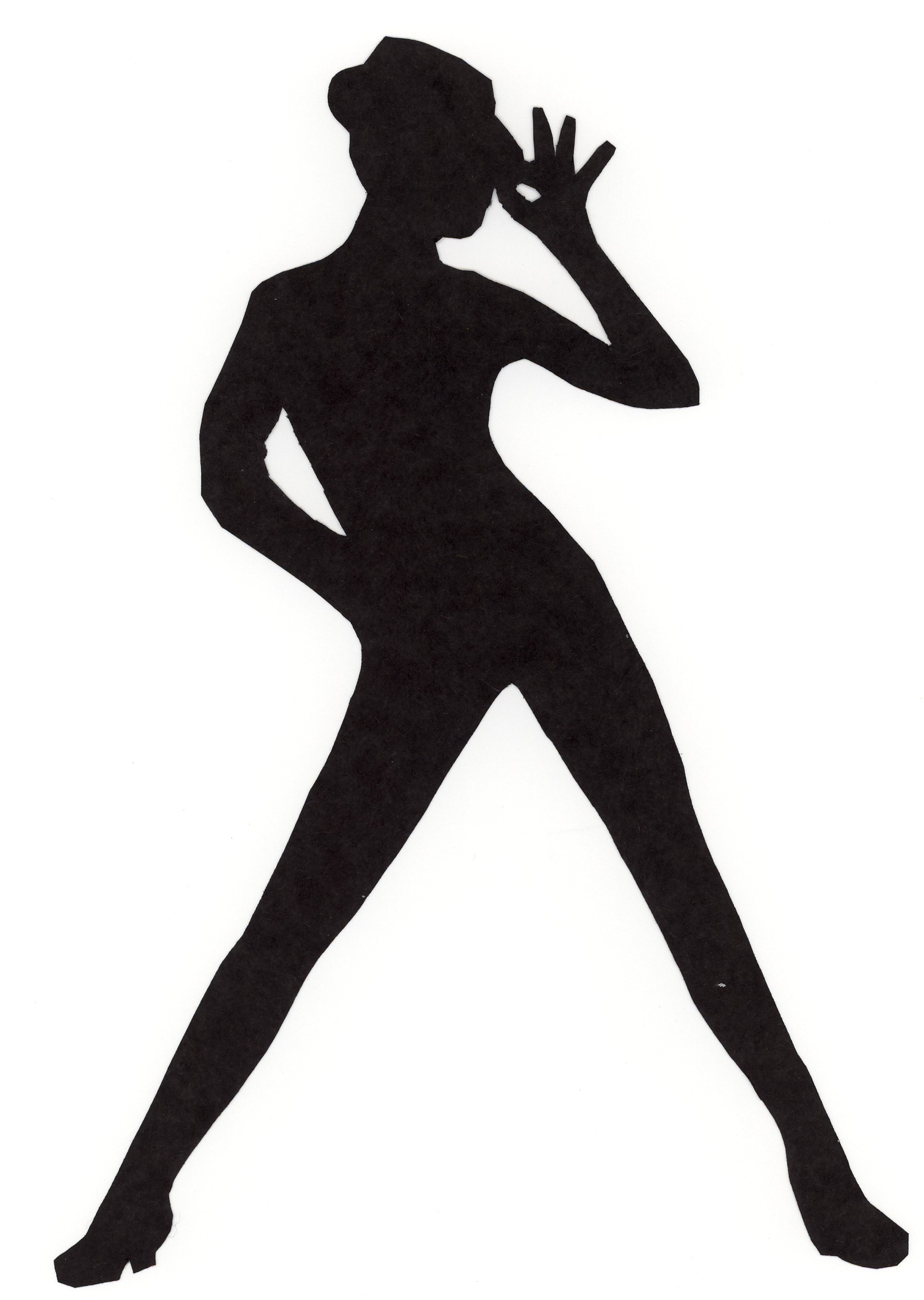 Jazz Dancer PNG Silhouette