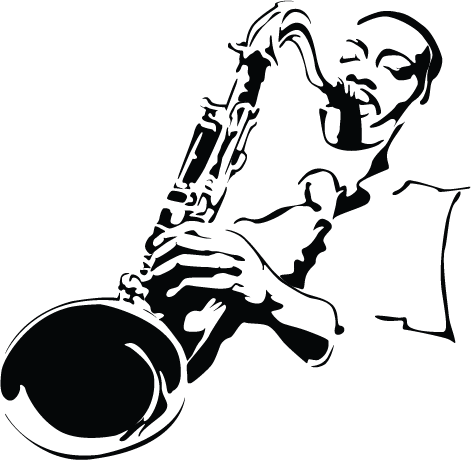 jazz art black and white - Google Search - Jazz Instruments PNG