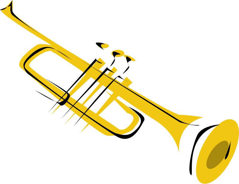 Jazz Band Silhouette Clipart - Jazz Instruments PNG