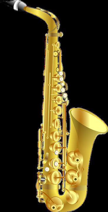 Saxophone, Sax, Instrument, Music, Jazz - Jazz Instruments PNG