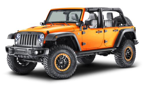 Orange Jeep Wrangler Car PNG Image - Jeep HD PNG