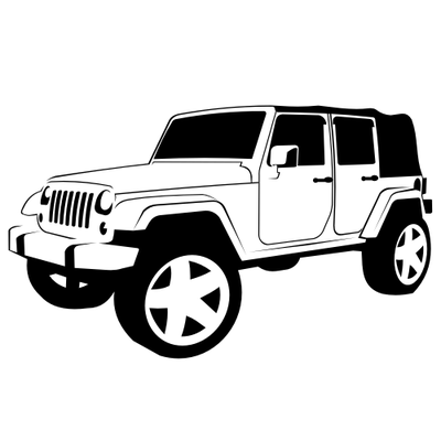 Jeep PNG Black And White