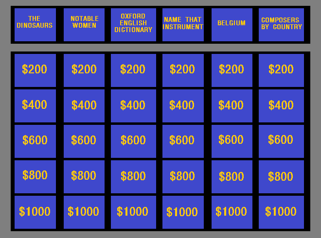 Jeopardy PNG - 69593