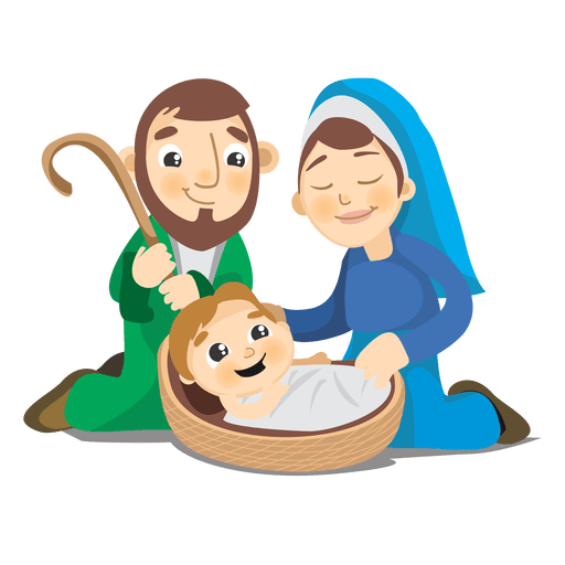 Birth of jesus christ cartoon Transparent PNG - Jesus Birth PNG