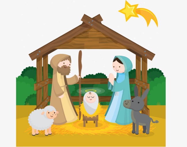 Birth of Jesus Christ, Straw Shed, Christian, Nativity PNG and Vector - Jesus Birth PNG