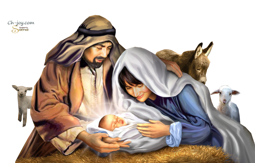 Holy Family And Birth Of Jesus By Sama By S by joeatta78 PlusPng.com  - Jesus Birth PNG