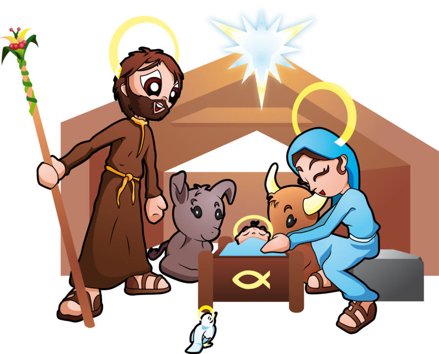Holy Family and the birth of Jesus by samasmsma PlusPng.com  - Jesus Birth PNG