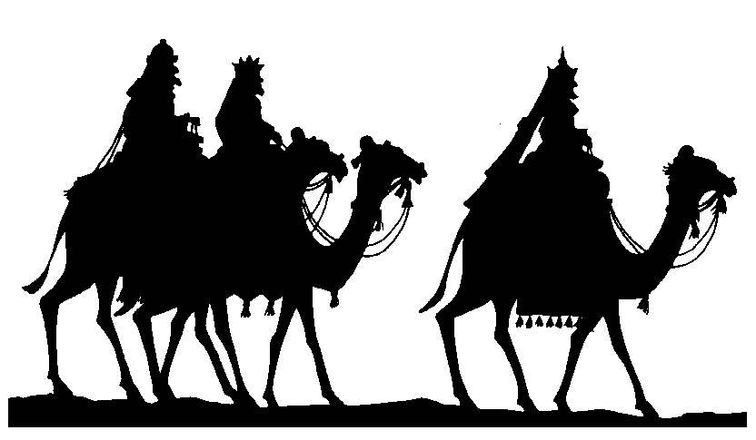 Jesus Birth Christmas Silhouettes Clip Art - Jesus Birth PNG