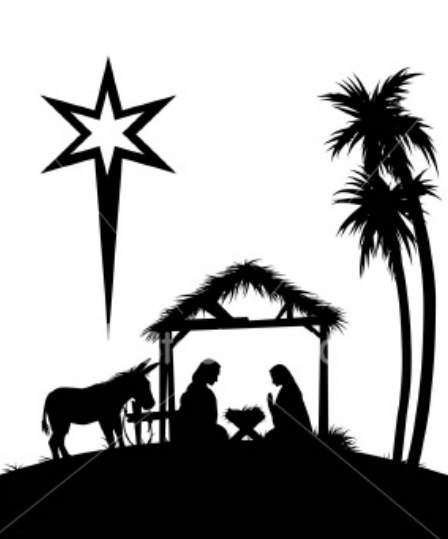 Manger Scene Silhouette Png 20 picture of baby jesus in a - Jesus Birth PNG