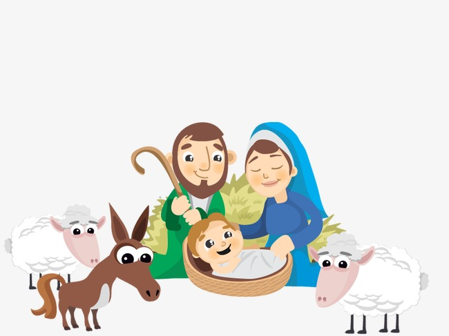 Vector birth of Jesus, Hd, Pretty, Animal PNG and Vector - Jesus Birth PNG