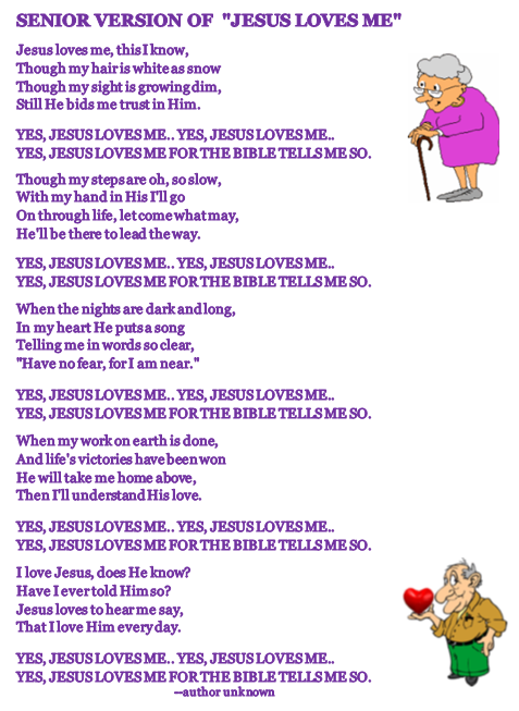 Jesus Loves Seniors w pics - Jesus With Seniors PNG