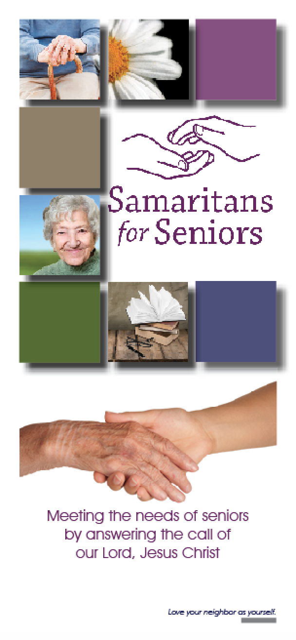 Samaritans for Seniors Brochure - Jesus With Seniors PNG