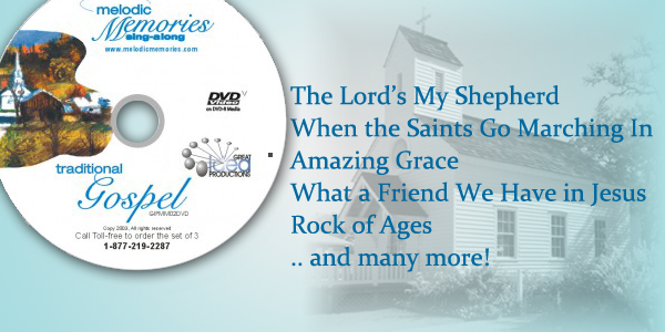 Traditional Gospel Songs Sing-Along DVD for Seniors. - Jesus With Seniors PNG