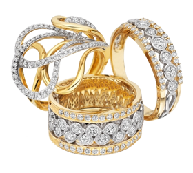 silver rings with diamonds PNG - Jewellary HD PNG