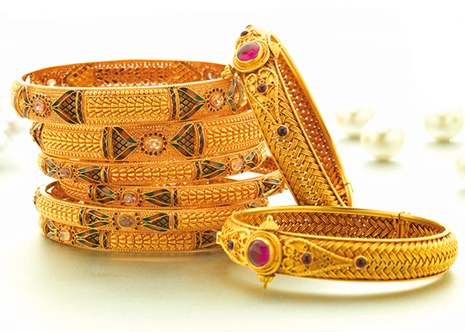 Exclusive Jewellery - Gold Bangle Designs - Jewellery PNG