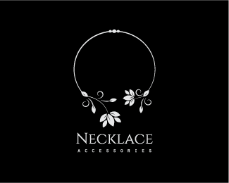 Logo Design - Necklace Leaves Jewelry - Jewelry Company PNG
